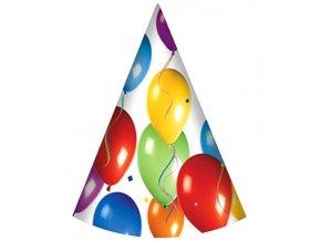Klobúčiky Balónová oslava 6 ks