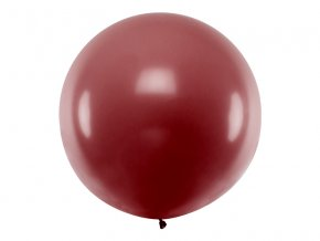 Guľatý latexový Jumbo balón 1m bordový