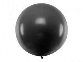 Guľatý latexový Jumbo balón 1m čierny