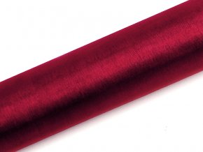 Organza vínovo červená 16cm x 9m