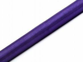 Organza fialová 36cm x 9m