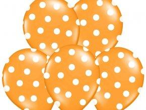 Bodkovany balon oranzovy