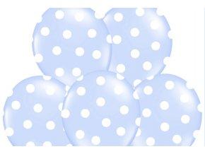 Bodkovany balon modry