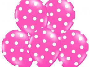 Bodkovany balon ruzovy