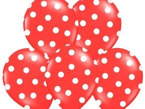 bodkovany balon cerveny