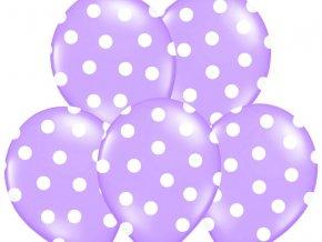 Bodkovany balon levandulovy