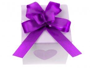 Sťahovacia mašľa fialová 1 cm