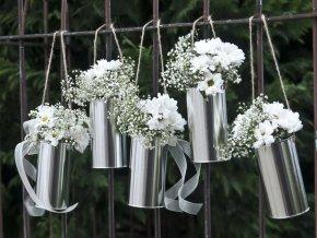 Dekorativne plechovky na svadbu