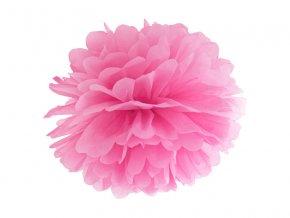 Pompom v tvare ružového kvetu 35 cm
