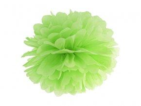 Pompom v tvare zeleného kvetu 35 cm