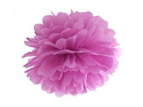 Pompom v tvare kvetu slivkový 35 cm