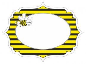 Etikety alebo menovky Včielka 6 ks