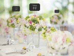 cierne tabulky na svadbu