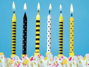 Narodeninové sviečky Včielka 6 ks
