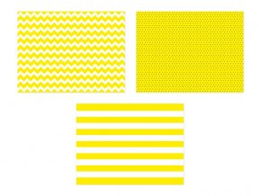 Prestieranie papierové žlté 6 ks