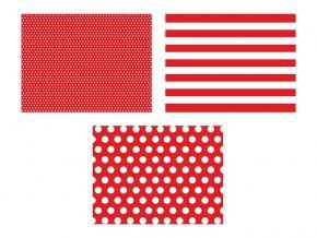 Prestieranie papierové červené 6 ks