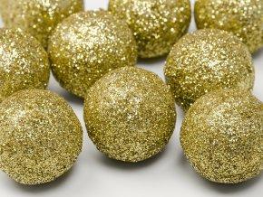 Glitrové gule zlaté 9 ks