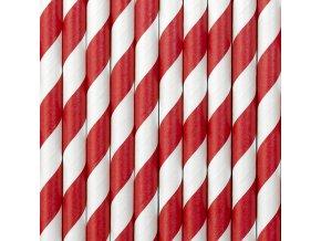 Papierové slamky červené 10 ks
