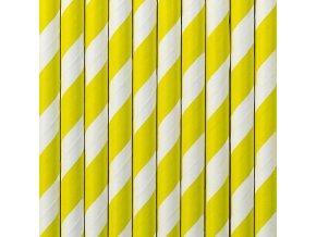 Papierové slamky žlté 10 ks