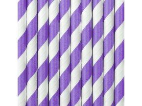 Papierové slamky fialové 10 ks