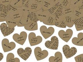 Konfety srdcia papierove
