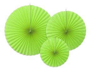 Dekoracne rozety svetlo zelene