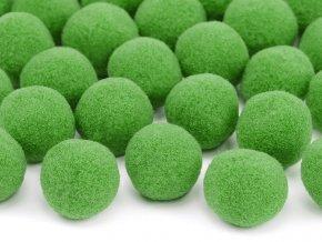 Plysove pompomy zelene