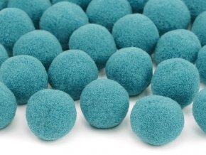 Plysove pompomy modrozelene