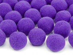 Plysove pompomy fialove