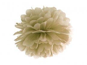 Pompom v tvare zlatého kvetu 35 cm