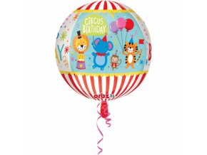 Foliovy balon Happy birthday cirkus