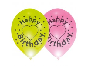 Latexovy balon happy birthady so srdieckom