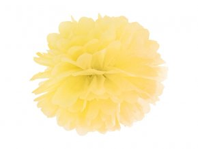 Pompom v tvare žltého kvetu 35 cm