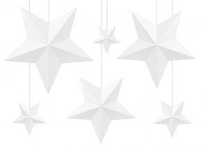 Dekoracia hviezdy biele