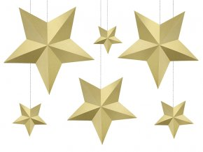 Dekoracie zlate hviezdy