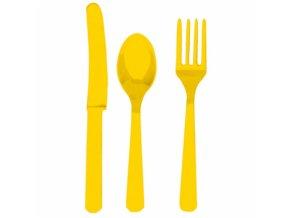Príbor žltý pre 8 ľudí