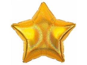 Foliovy balon Hviezda trblietava zlata