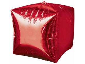 Foliovy balon Kocka červena