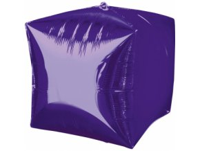 Foliovy balon Kocka fialova
