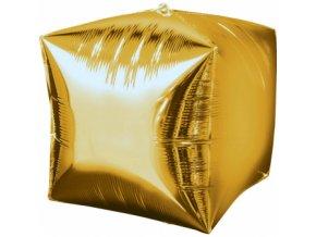 Foliovy balon Kocka zlaty