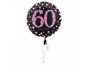 Foliovy balon 60 trblietava ruzova