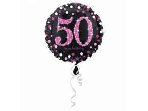 Foliovy balon 50 trblietava ruzova