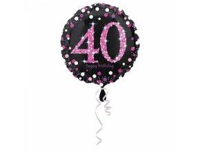 Foliovy balon 40 trblietava ruzova
