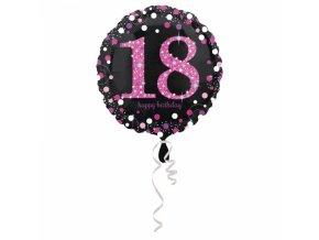 Foliovy balon 18 trblietava ruzova