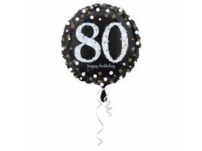 Foliovy balon 80 trblietava zlata