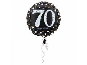 Foliovy balon 70 trblietava zlata