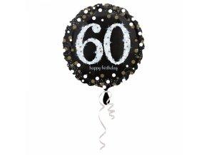Foliovy balon 60 trblietava zlata