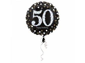 Fóliový balón 50 trblietavá zlatá