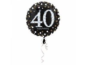 Foliovy balon 40 trblietava zlata