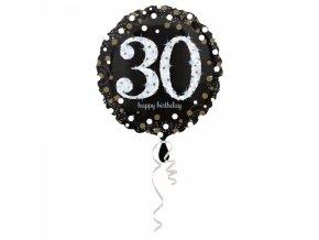 Foliovy balon 30 trblietava zlata